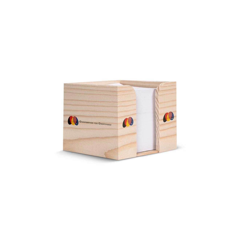 Kubushouder hout met recycled papier