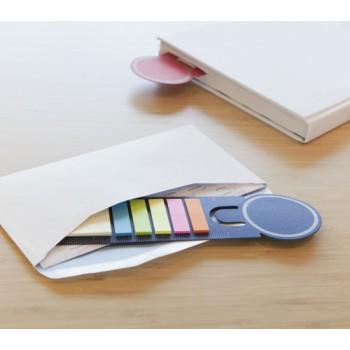 Boekenlegger met sticky notes