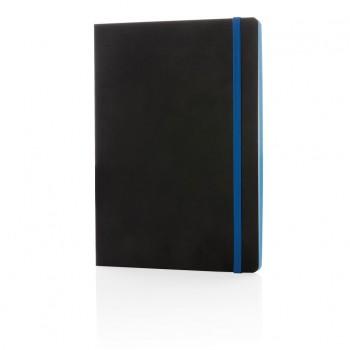 Luxe A5 softcover notitieboek met gekleurde rand