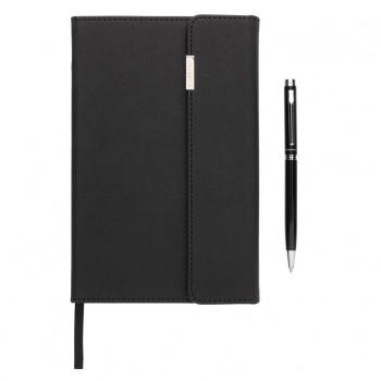 Swiss Peak deluxe A5 notitieboek en pen set