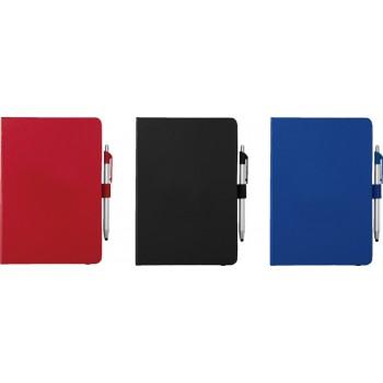 Crown A5 notitieboek met balpen