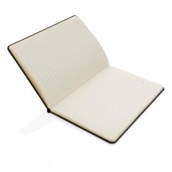 Deluxe hardcover PU A5 notitieboek met telefoon- en penhoude
