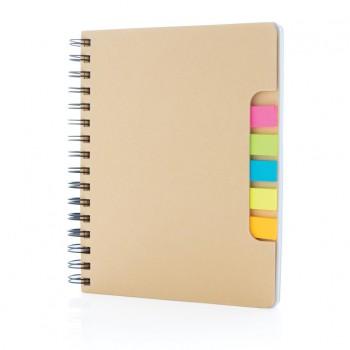 A5 Kraft spiraal notitieboek met memo's
