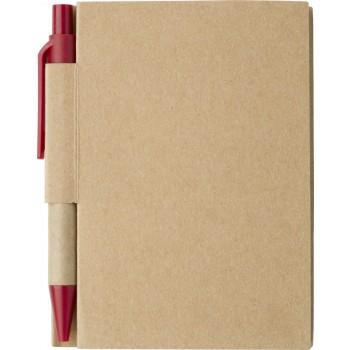 Notitieboekje Eco met balpen