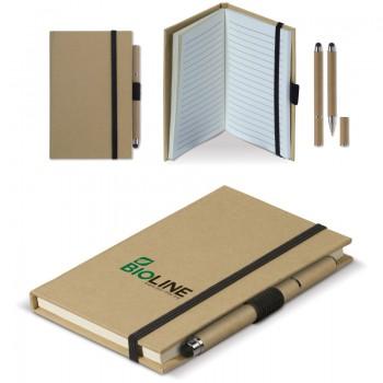 Notitieboek karton A6 + balpen