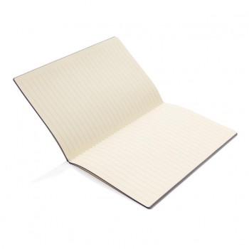 Softcover PU notitieboek met gekleurde accent rand